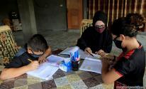 التعليم عن بعد في غزة