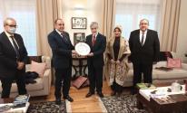 سفير فلسطين يُقيم مأدبة وداعية لسفير جمهورية مصر لدى بولندا