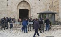 الاحتلال يمنع المصلين من الوصول للمسجد الأقصى ويشدد الإجراءات