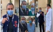 نشوى مصطفى تغادر المستشفى