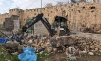 الاحتلال ينفذ أعمال تجريف في مقبرة الشهداء بالقدس