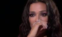 نادين نجيم تبكي بسبب طفل