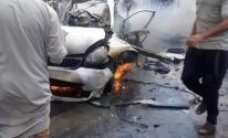 شاهد.. شهيدين وإصابات باستهداف الاحتلال لسيارة مدنية شمال قطاع غزة