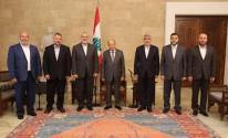 وفد حركة حماس مع ميشال عون