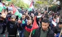 الخليل: مسيرة حاشدة دعمًا للأسرى المضربين عن الطعام