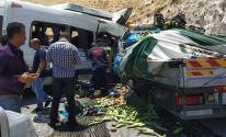 حادث سير شمال نابلس