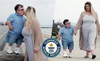 بالفيديو | زوجان يدخلان غينيس بأكبر فارق طول
