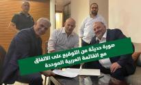 عباس يكشف تفاصيل جديدة بشأن توقيعاتفاق الائتلاف مع لابيد