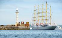 أكبر سفينة شراعية فى العالم تستعد للإبحار فى أول رحلة لها ببريطانيا