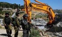 الاحتلال يخطر بوقف العمل بطريق زراعي في طوباس