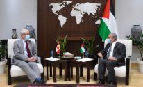 اشتية يلتقي وزير الخارجية الكندي لبحث آخر التطورات الفلسطينية