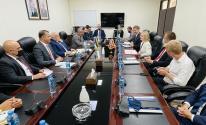 بشارة يلتقي وزيرة التجارة الدولية للملكة المتحدة