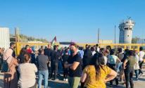 الاحتلال يقمع وقفة أمام معتقل عوفر