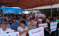 شاهد.. تجار غزة ينظمون وقفة احتجاجية أمام حاجز بيت حانون