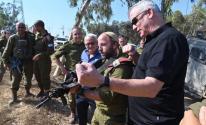 غانتس يزور فرقة غزة العسكرية.jpg