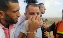 إصابة المصور عاصم شحادة شرق غزة