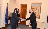 السفير عطاري يُقدم أوراق اعتماده لدى رئيس قبرص