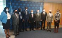 منصور يجتمع مع غوتيريش واللجنة المعنية بحقوق الشعب الفلسطيني غير القابلة للتصرف