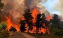 شاهد: تجدد اندلاع الحرائق في جبال القدس