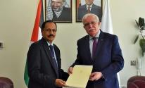 المالكي يتسلم نسخة عن أوراق اعتماد سفير سريلانكا المقيم لدى دولة فلسطين.jpeg