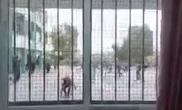 طلاب يعتدون على مدرسين في مدرسةشمال غزة