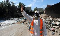دعوة لإزالة المخلفات الكيميائية والمبيدات الزراعية المحترقة شمال شرق غزة