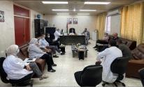 الكيلة في اجتماع بمستشفى رفيديا الحكومي