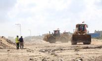 تطوير كورنيش شارع الرشيد الساحلي شمال غزة