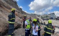 إصابة 10 عمال إثر انهيار جدار شمال فلسطين المحتلة