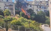 حيفا: اندلاع حريق بين مبانٍ سكنية.jpg