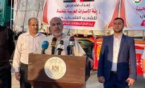 شاهد: وصول معدات لإقامة مستشفى إماراتي ميداني في جنوب قطاع غزّة