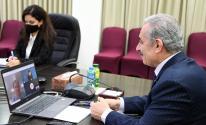 اشتية يبحث مع وزيرة خارجية النرويج آخر التطورات في الساحة الفلسطينية