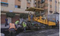 رصف الشوراع في مدينة غزة