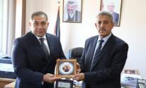 رئيس سلطة البيئة يلتقي بالسفير المصري لدى فلسطين