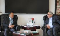 غنيم يُطلع مدير مكتب الأمم المتحدة على واقع المياه في فلسطين