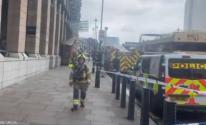 حريق في محطة مترو وستمنستر في العاصمة لندن