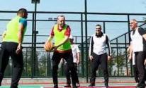 بالفيديو: مباراة كرة سلة مع أردوغان ووزرائه
