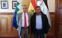 وزير خارجية بوليفيا والسفير العلواني
