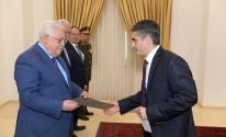 الرئيس يتقبل أوراق اعتماد سفير قبرص لدى دولة فلسطين.jpg