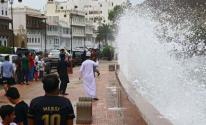 تضرر المنازل اليمنية بسبب إعصار شاهين