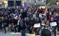 تظاهرة احتجاجية في دير حنا ضد العنف وجرائم القتل في الداخل المحتل