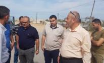 الأشغال تنفذ جولة تفقدية لمكان إقامة المدينة المصرية شمال قطاع غزة