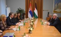 المالكي يلتقي الرئيس الصربي