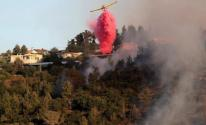اندلاع حريق في جبال القدس وفرق الإطفاء تحاول السيطرة عليه