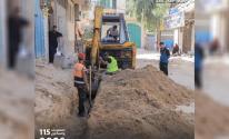 البلدية تشرع بتطوير شوارع متفرعة شرق مدينة غزة