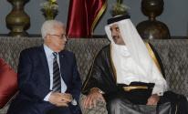عباس وأمير قطر