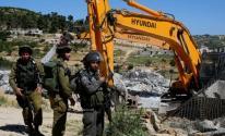 الاحتلال يهدم منشأة سكنية في الأغوار