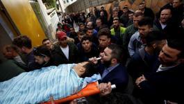 قوات الاحتلال تعترض جنازة الفتى مصعب التميمي برام الله.jpg