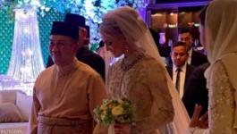 شاهدوا: زفاف أسطوري لولي العهد الماليزي على