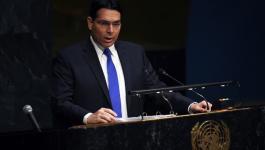 دانون: لن نفرض السيادة الإسرائيلية على الضفة قبل إعلان صفقة القرن